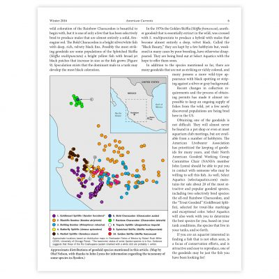 Mexican goodeids map as published